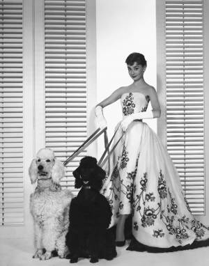 Audrey Hepburn wearing a Givenchy gown in Sabrina